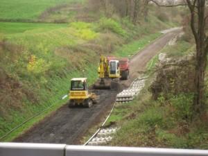 foto 1 rupsdumpers oude ballast naar depot rijden